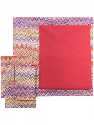 Комплект постельного белья John размера King size Missoni Home. Цвет: красный