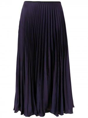 Плиссированная юбка миди Eva. Цвет: черный