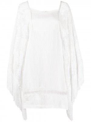 Платье мини Korsa Alexis. Цвет: белый
