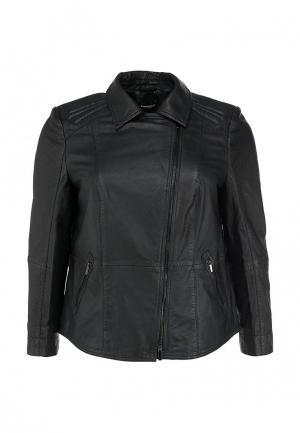 Куртка кожаная Samoon by Gerry Weber. Цвет: черный