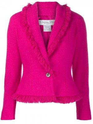 Блейзер с бахромой Christian Dior. Цвет: розовый