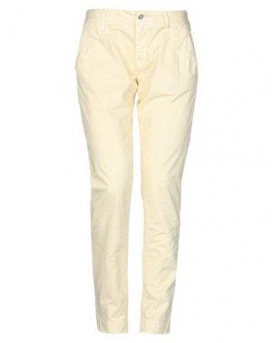Повседневные брюки HTC. Цвет: светло-желтый