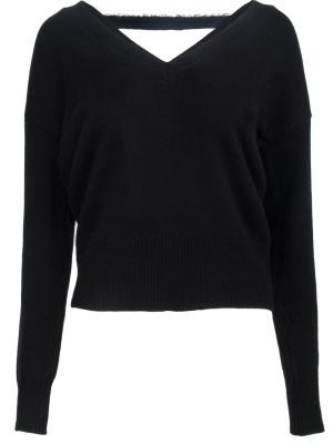 Шерстяной пуловер Essential. Цвет: черный