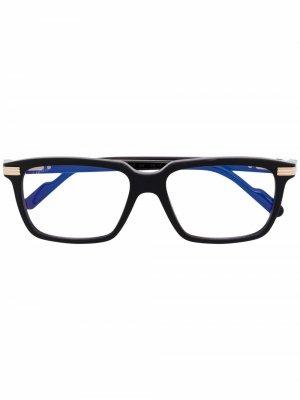 Очки в квадратной оправе Cartier Eyewear. Цвет: черный