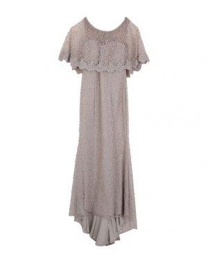 Длинное платье MUSANI. Цвет: голубиный серый