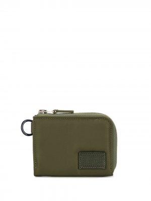 Zip-around small wallet Sacai. Цвет: зеленый