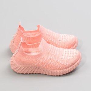 Для девочек Беговая обувь в полоску SHEIN. Цвет: нежний розовый
