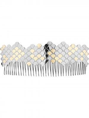 Гребень для волос Pinta Maison Michel. Цвет: серебристый