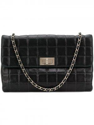 Стеганая сумка на плечо Chanel Pre-Owned. Цвет: черный