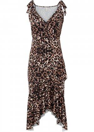Платье с остроугольным подолом bonprix. Цвет: черный