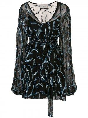 Платье Lujana с вышивкой Alexis. Цвет: черный