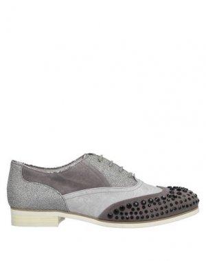 Обувь на шнурках CAFèNOIR. Цвет: свинцово-серый
