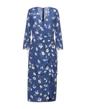 Платье длиной 3/4 ALTUZARRA. Цвет: синий