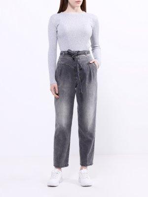 Свободные джинсы Pinko. Цвет: seryy
