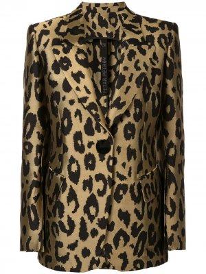 Куртка Justin с леопардовым принтом Petar Petrov. Цвет: золотистый