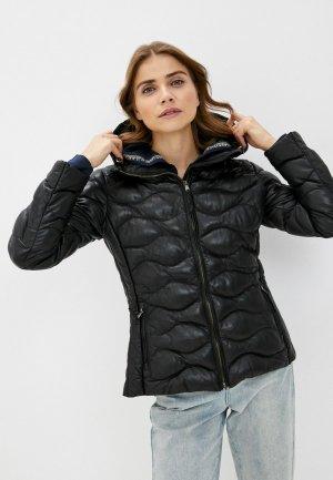 Куртка кожаная Blouson MARY. Цвет: черный
