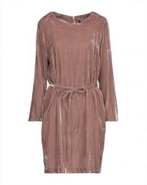 Короткое платье EMMA & GAIA. Цвет: светло-коричневый