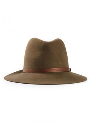 Шляпа-федора Rag & Bone. Цвет: коричневый