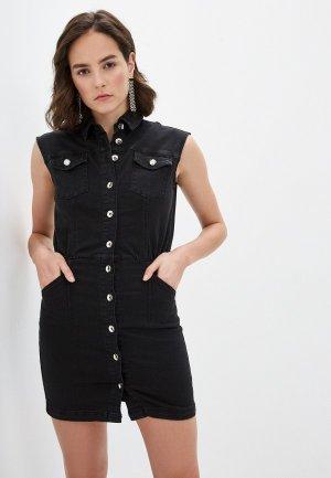 Платье джинсовое Patrizia Pepe. Цвет: черный