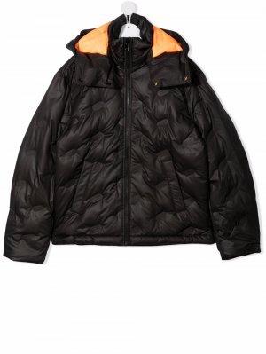 TEEN zip-up hooded padded jacket Diesel Kids. Цвет: черный