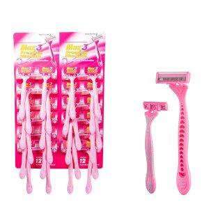 12шт из нержавеющей стали Удаление волос Бритвенный нож SHEIN. Цвет: розовые