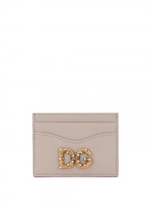 Картхолдер DG Amore Dolce & Gabbana. Цвет: нейтральные цвета