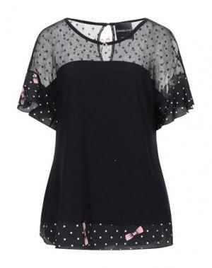 Блузка DANIELA DREI. Цвет: черный