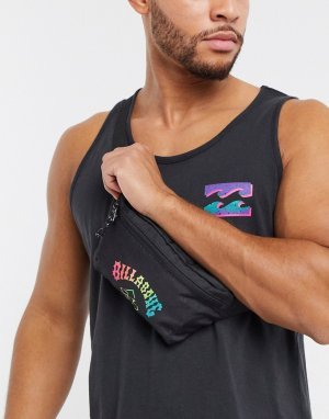 Черная сумка-кошелек на пояс с отделкой -Черный Billabong