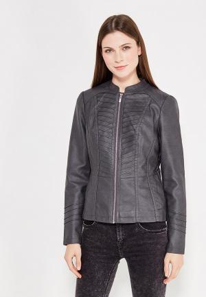Куртка кожаная Wallis. Цвет: серый