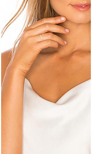 Кольцо five diamond Sachi. Цвет: металлический золотой