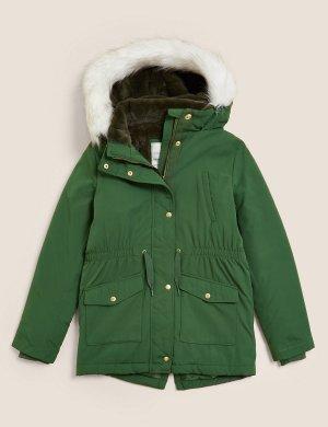 Парка Stormwear ™ с капюшоном Marks & Spencer. Цвет: зеленый