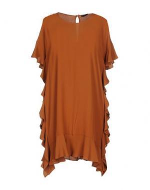 Короткое платье ANNARITA N. Цвет: коричневый