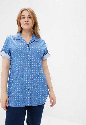 Рубашка Cleo. Цвет: голубой