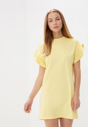 Платье Befree BE031EWBNDD4. Цвет: желтый