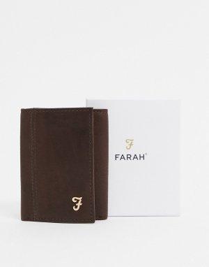 Бумажник тройного сложения Ashington-Коричневый Farah