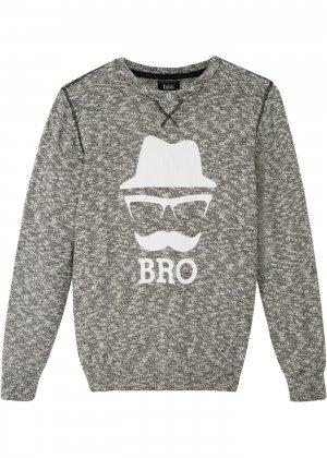 Пуловер для мальчика bonprix. Цвет: черный