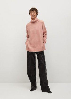 Объемный свитер с воротником отворотом - Picasso Mango. Цвет: пастельно-розовый
