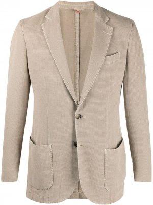 Delloglio однобортный пиджак Dell'oglio. Цвет: нейтральные цвета