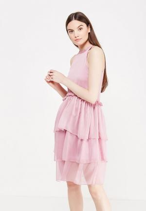 Платье LOST INK ROSE FLOUNCE AND FRILL DRESS. Цвет: розовый