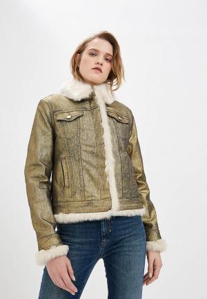 Куртка джинсовая Liu Jo REVERSIBLE. Цвет: золотой
