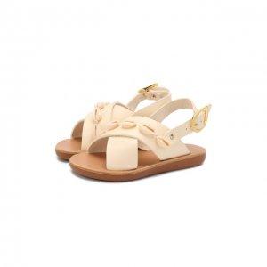 Кожаные босоножки Ancient Greek Sandals. Цвет: белый