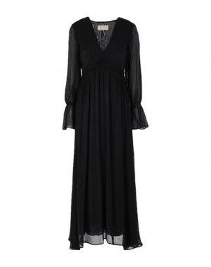 Платье миди KAOS JEANS. Цвет: черный