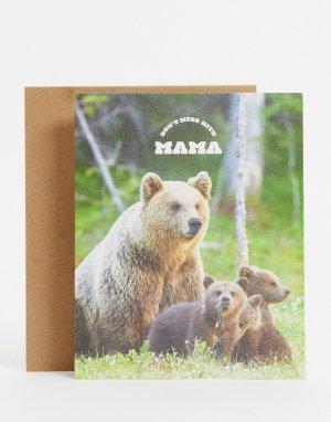Открытка ко Дню матери с надписью Dont Mess With Mama-Многоцветный TYPO