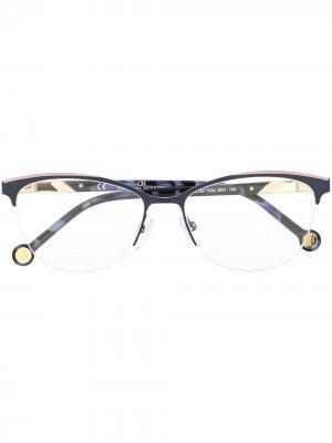 Half-rim cat-eye frame glasses Carolina Herrera. Цвет: синий