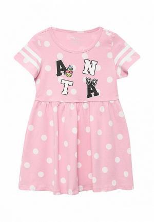 Платье Anta. Цвет: розовый