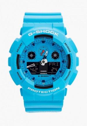 Часы Casio G-SHOCK GA-100RS-2AER. Цвет: голубой