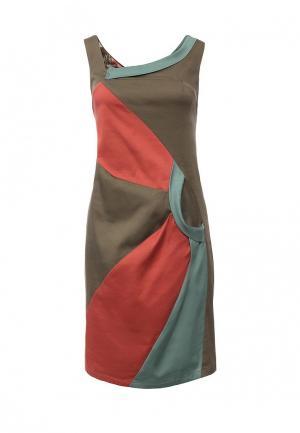 Платье D.VA DV003EWIVI66. Цвет: мультиколор