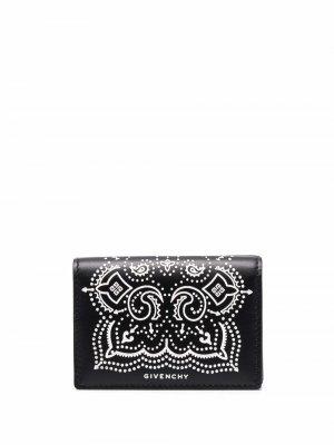 Бумажник с принтом пейсли Givenchy. Цвет: черный