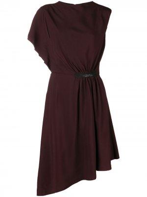 Crepe asymmetric midi dress LANVIN. Цвет: красный