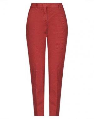 Повседневные брюки VIA MASINI 80. Цвет: кирпично-красный